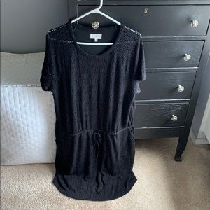 Short sleeve drawstring dress